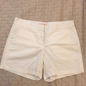 J crew women's white 5 inch chino shorts size 6